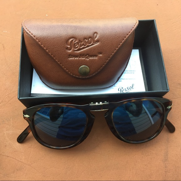 d4673c3077 PERSOL STEVE MCQUEEN FOLDING SUNGLASSES WITH CASE